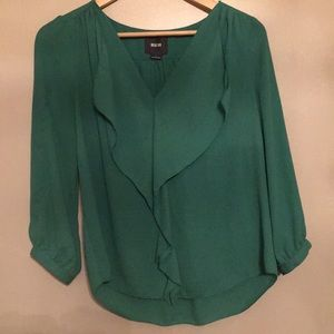 Maeve green blouse - size 2